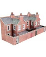 Model kit N:  Low relief terraced house backs in red brick style - Metcalfe - PN176