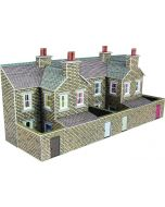 Model kit N:  Low relief terraced house backs in stone style - Metcalfe - PN177