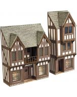 Model kit N: low relief timber framed shop fronts - Metcalfe - PN190