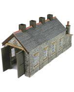 Model kit N: single track engine shed stone built - Metcalfe - PN932