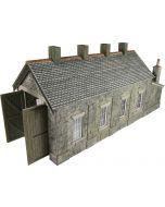 Model kit OO/HO: single track Engine shed - stone - Metcalfe - PO332