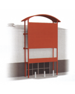 Model kit OO: Out of town retail unit frontage kit