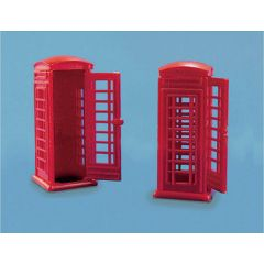 2 Telephone boxes - OO scale