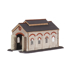 Model kit N: single stall Engine shed