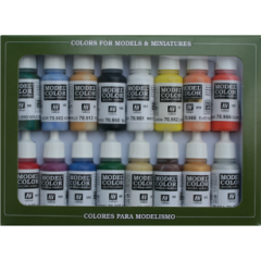 Set 16 basic colors - Vallejo Model Color  -  Acrylic Paint