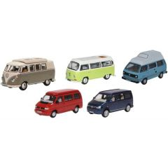 VW camper set T1/T2/T3/T4/T5 - Oxford Diecast - OO scale