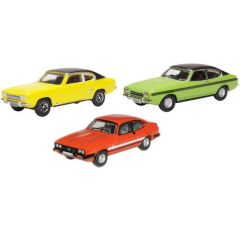3 car set Ford Capri - mk1 mk2 mk3 - Oxford Diecast - OO scale