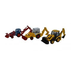 3 piece JCB anniversary tractor set - Oxford Diecast - OO scale