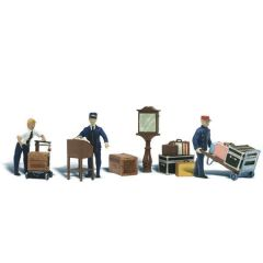 Depot Workers and accessories - Woodland scenics A2757 O figures