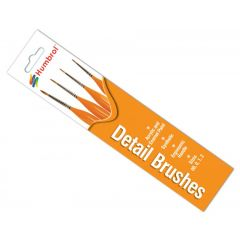 Humbrol  Detail Brush Pack sizes 00, 0, 1 and 2