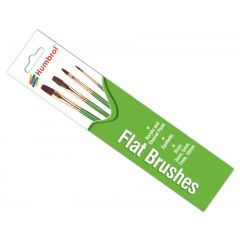 Humbrol   Flat Brush Pack sizes 3, 5, 7 and 10