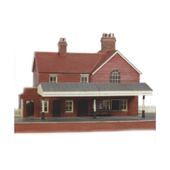 Model kit OO: brick country station with platform