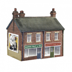 Model kit OO: semi detached shops
