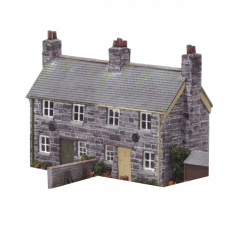 Model kit OO: semi detached stone-cottages