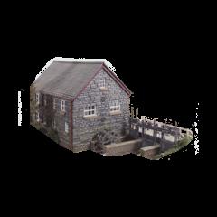 Model kit OO: water mill