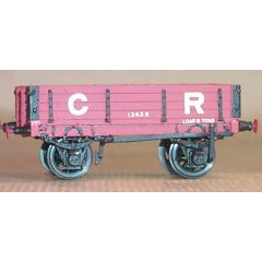 whitemetal kit: CRD015 4mm scale Caledonian Railway D15 8/10T dropside wagon