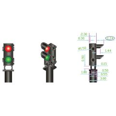 4x 2-wire Red/Green Ground Signal - DCC concepts