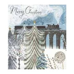 10  luxury Christmas cards woodmansterne - merry christmas - steamtrain and birds