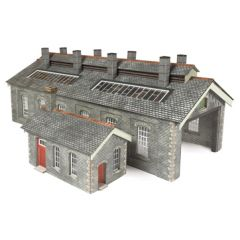 Model kit N: double track engine shed stone - Metcalfe - PN937