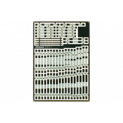 Pre-Etched Sleepers 1.6mm (4mm scale) double slip - DCC concepts