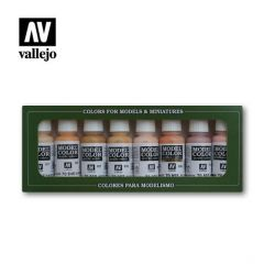 Set 8 face and skin tones - Vallejo Model Color  -  Acrylic Paint