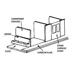 Carriage interior kit – 8 compartment corridor