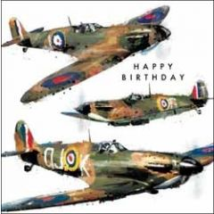 birthday card - happy birthday - planes
