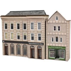 Model Kit N: Low relief Bank and Shop - Metcalfe - PN971