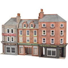 Model Kit N: Low relief pub and shops - Metcalfe - PN972