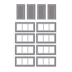 Model kit OO: SSM314 Wills Modern Extra Windows & Doors Kit