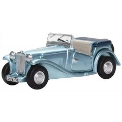 MG TC convertible - Powder Blue - Oxford Diecast - OO scale