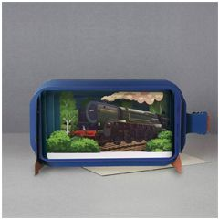 3D pop up greeting card - message in a bottle - oliver cromwell | englishmodelrailways.shop