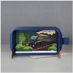 3D pop up greeting card - message in a bottle - union of south africa | englishmodelrailways.shop