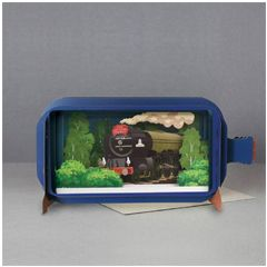 3D pop up greeting card  - message in a bottle - tornado train | englishmodelrailways.shop