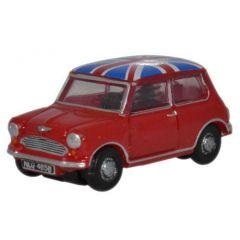 Mini Cooper - Union Jack - Oxford Diecast - scale N
