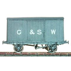 whitemetal kit: Glasgow & South Western Railway, LMS & BR - Diagram 28: 10 ton Covered Goods Wagon