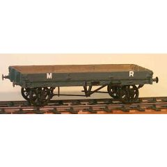 whitemetal kit: Midland Railway, LMS & BR - Diagram 336/336a: Long low wagon