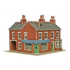 Model kit N:  corner shop and pub red brick - Metcalfe - PN116