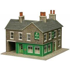 Model kit N:  corner shop and pub stone built - Metcalfe - PN117
