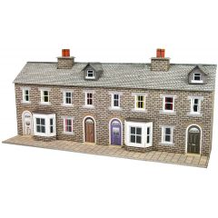 Model kit N:  Low relief terraced house fronts - Metcalfe - PN175