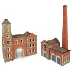 Model kit N: Boiler house and factory entrance - Metcalfe - PN184