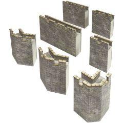 Model Kit N - Curtain walls - Metcalfe - PN193
