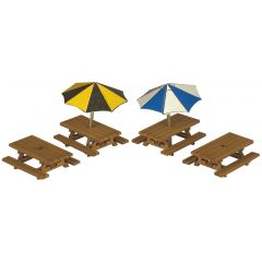 Model kit N: picnic tables - Metcalfe - PN810