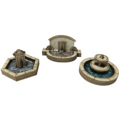 Model kit N: stone fountain set - Metcalfe - PN823
