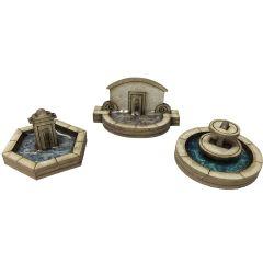 Model kit N: stone fountain set - Metcalfe - PN823