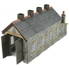 Model kit N: single track engine shed stone built - Metcalfe - PN932