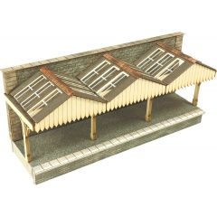 Model kit N: Wall backed platform canopy - Metcalfe - PN941