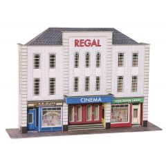 Model kit OO/HO: Low relief Cinema and shops - Metcalfe - PO206