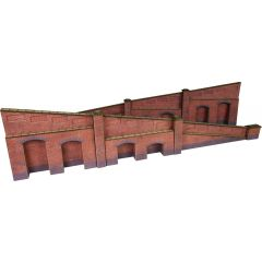 Model kit OO/HO: tapered retaining walls - brick -  Metcalfe - PO248