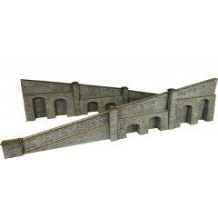 Model kit OO/HO: tapered retaining walls - stone -  Metcalfe - PO249